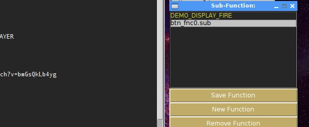 Press button [NEW FUNCTION] in function window