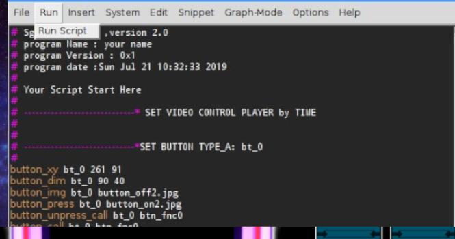 Press 'Run Script' button for Launch this Demo